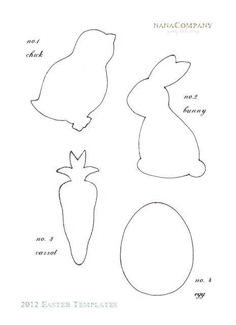 easter bonnet printable templates - diy handmade jajka szablon do druku wycinanki witra