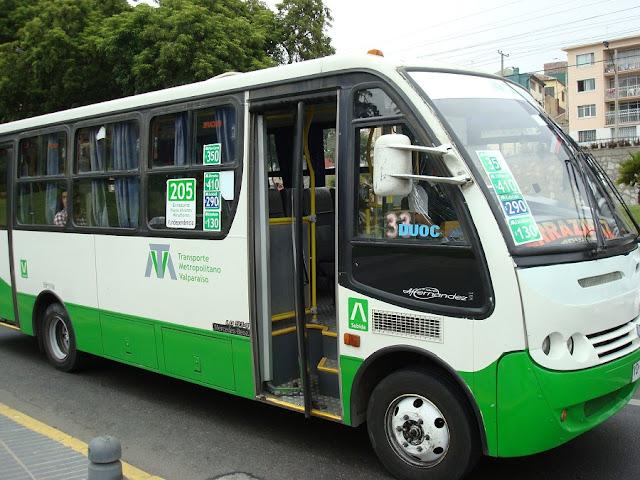 Como ir de Valparaíso a Viña del Mar de ônibus público