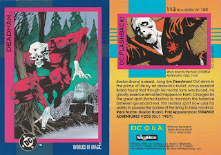 Deadman trading card from DC Cosmic Teams