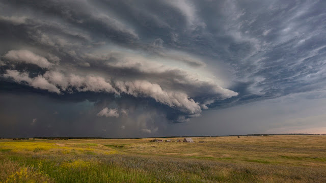 Supercell, amazing structure storm