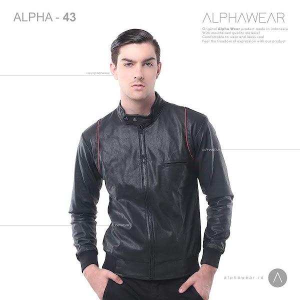 alphawear glamour leather jacket alpha43