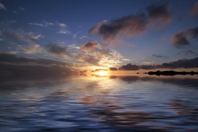 Armonía del paisaje del mar.