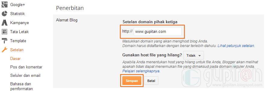Cara Setting Custom Domain Blogger di Namecheap 2