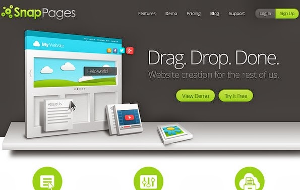 SnapPages website building service
