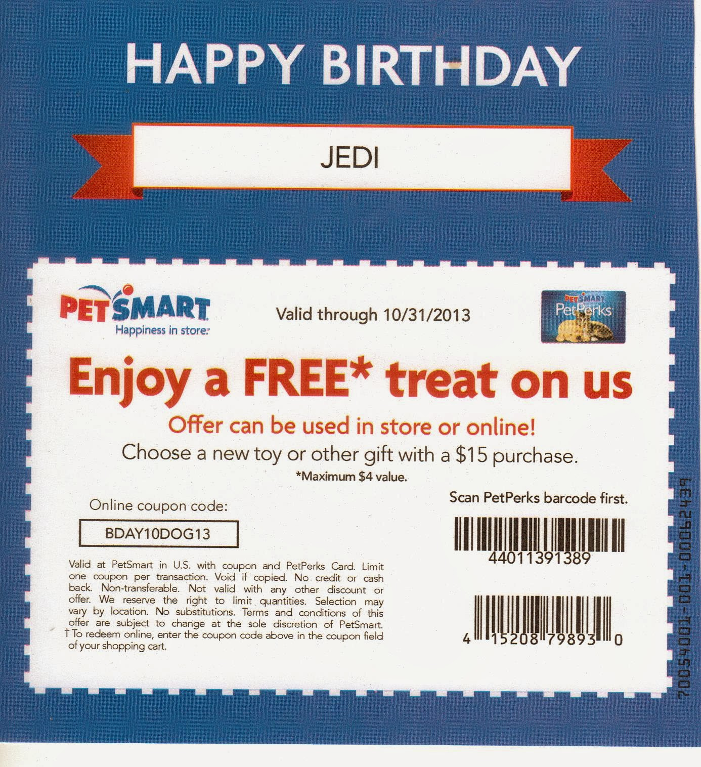 Expired Puppy Cake Coupons