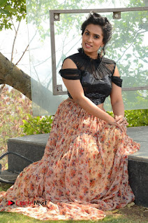 Actress Chetana Uttej Stills in Floral Long Skirt at Pichiga Nachav Movie Press Meet  0090.JPG
