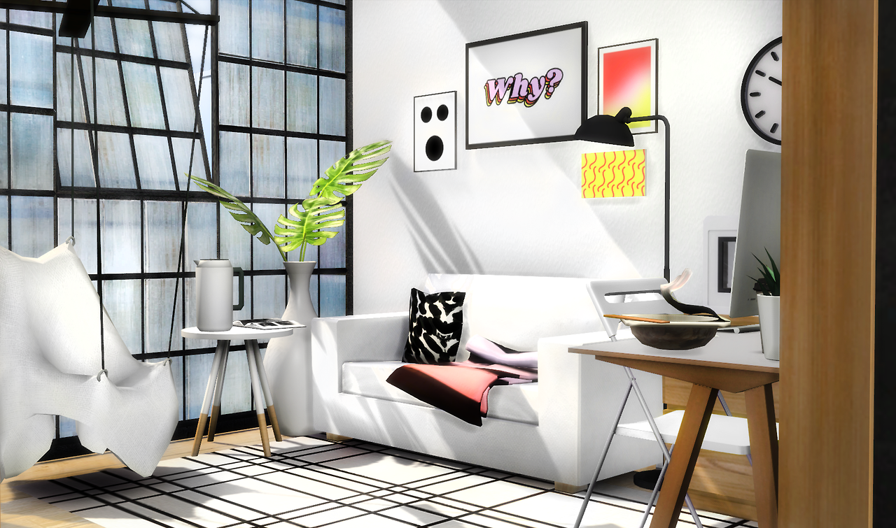 My Sims 4 Blog: Compact Living Room Set by Slox