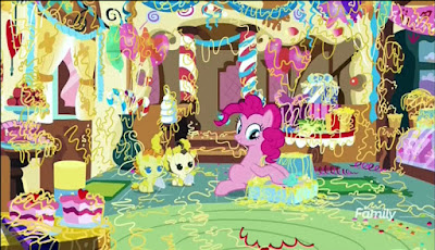 Pinkie messing up the Cakes' house