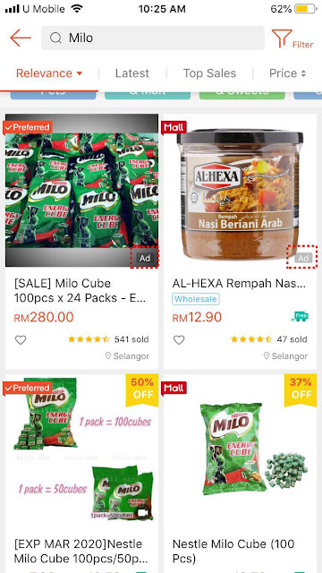Shopee ad appearance on mobile (1)