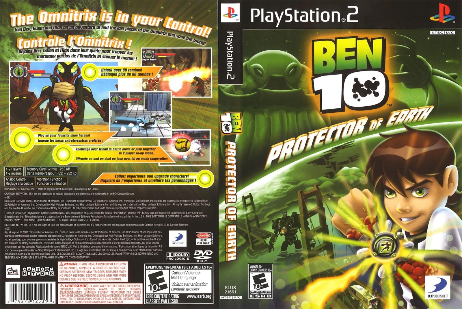 DESCARGAR BEN 10 PROTECTOR OF EARTH PARA PC  juegos y tecnologia