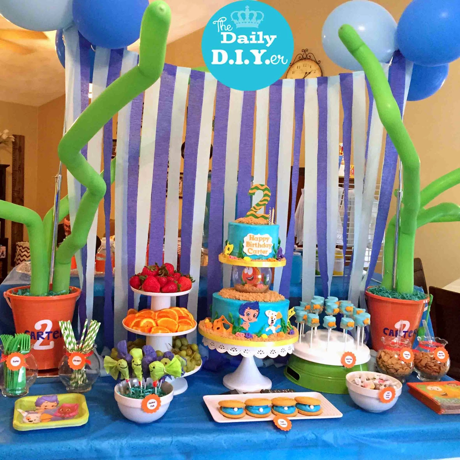 the daily diyer bubble guppies party