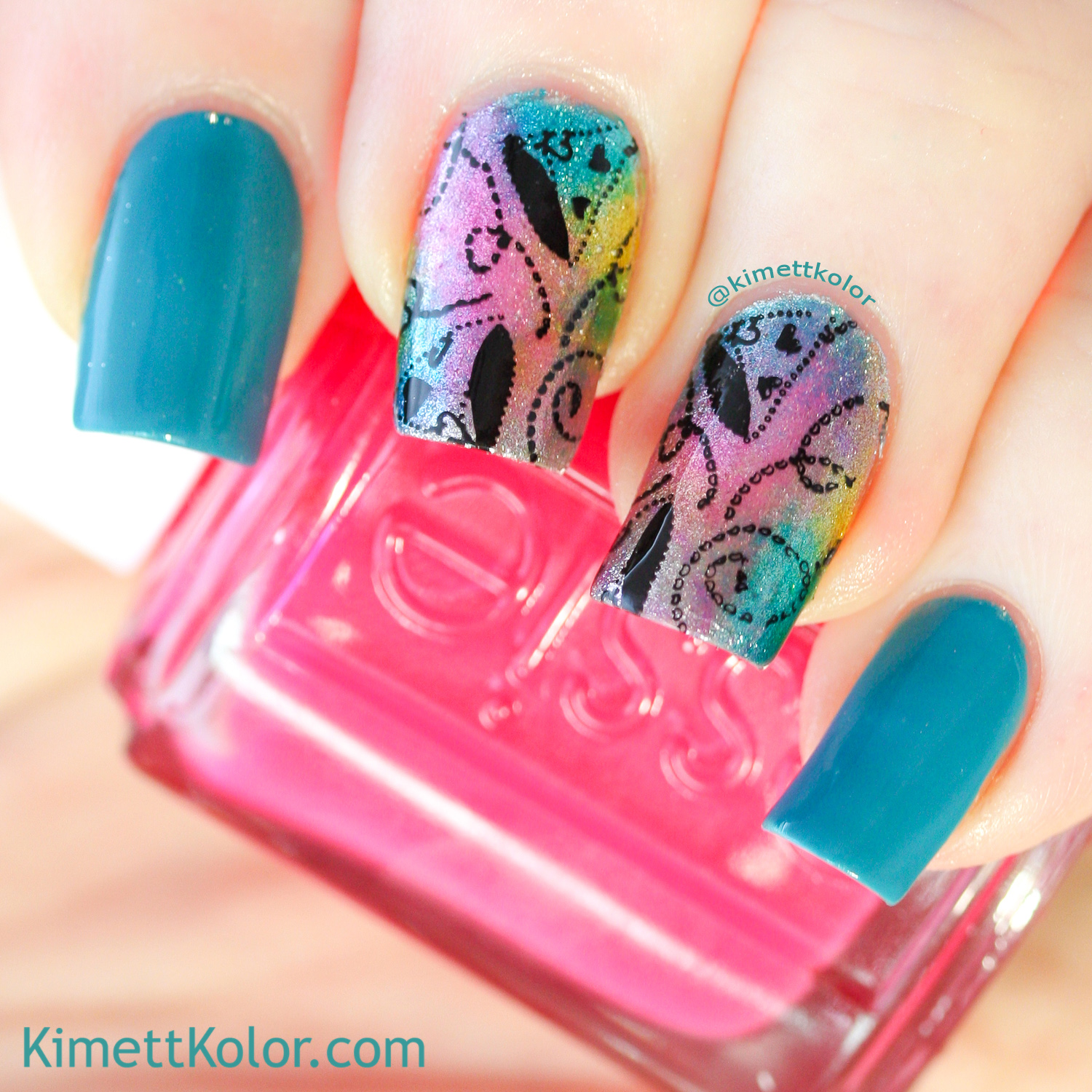 KimettKolor Birthday Nail Art Stamping