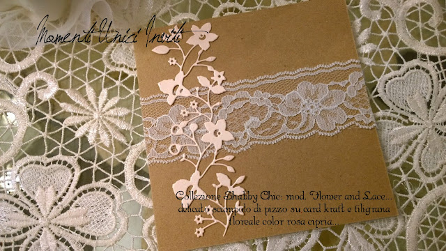 flower%2Band%2Blace Collezione Shabby Chic - Mod. Flower and LacePartecipazioni shabby chic - country - vintage