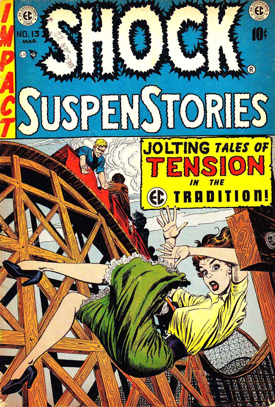 Shock Suspenstories v1 #13 comic book cover art by Jack Kamen