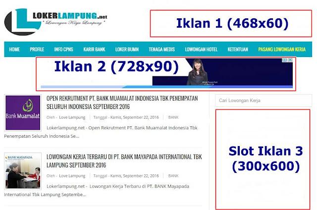 Pasang Iklan Premium Murah di Loker Lampung