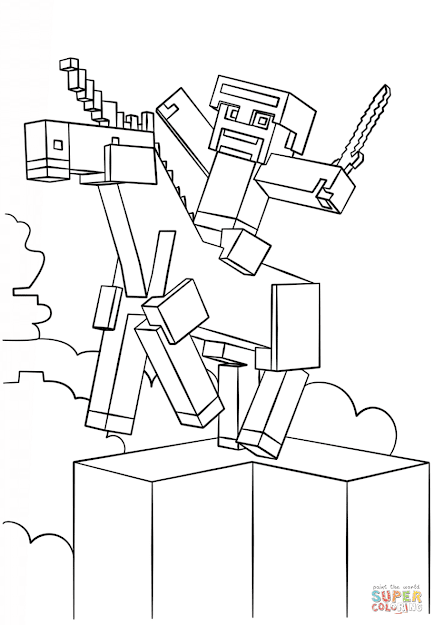Click The Minecraft Unicorn Coloring Pages To View Printable Version Or  Color It Online Patible With Ipad And Android Tablets