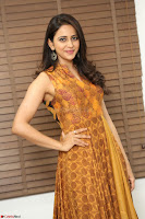 Rakul Preet Singh smiling Beautyin Brown Deep neck Sleeveless Gown at her interview 2.8.17 ~  Exclusive Celebrities Galleries 022.JPG