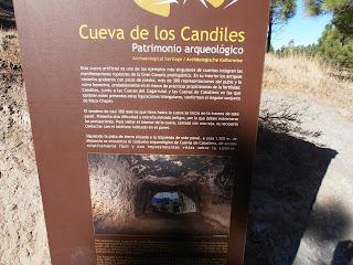 Panel explicativo Cueva de los Candiles