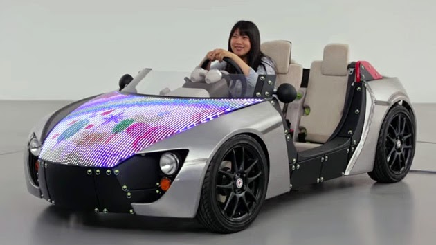 TOYOTA Concept Car with LED Engine Hood