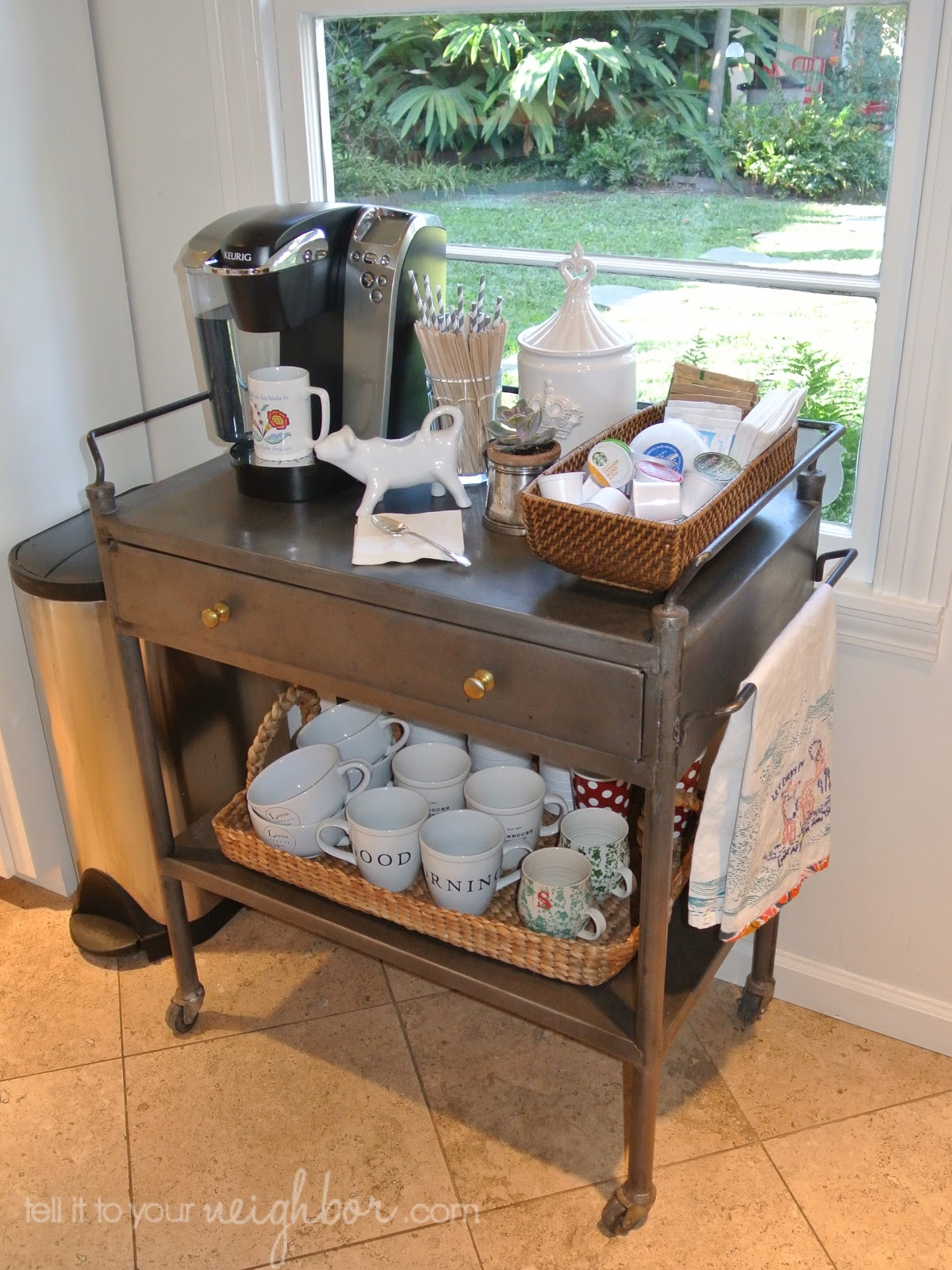 tell it to your neighbor coffee cart at home. Black Bedroom Furniture Sets. Home Design Ideas