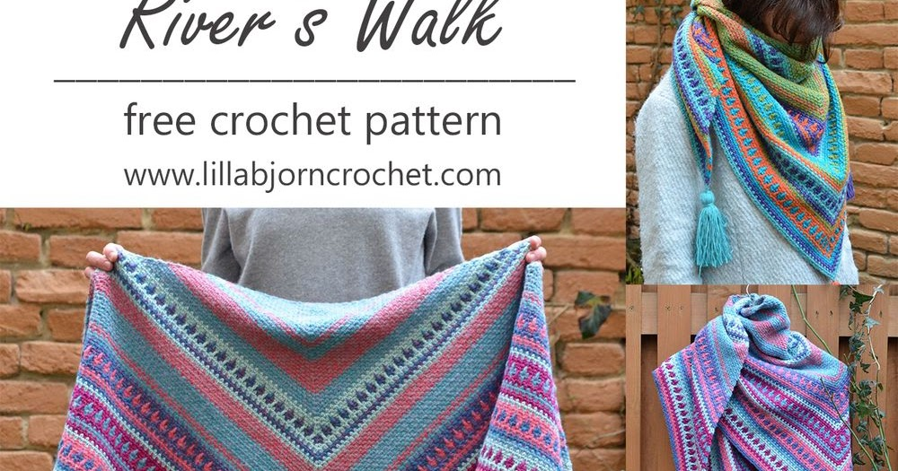River&8217;S Walk Shawl &8211; Free Crochet Pattern | Lillabjörn's Crochet World - Diy Crafts