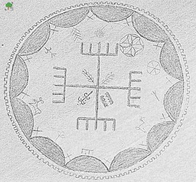 krzyż słowiański, rysunek, graficzna przeróbka, symbole słowiańskie
