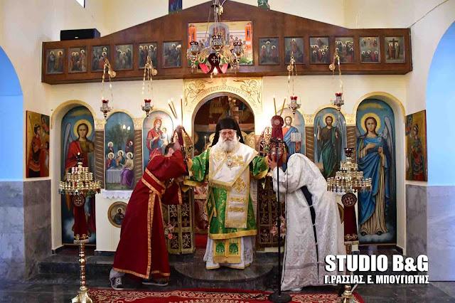 Αρχιερατική Θεία λειτουργία της εορτής του Αγίου Πνεύματος στη Νεμέα (βίντεο)