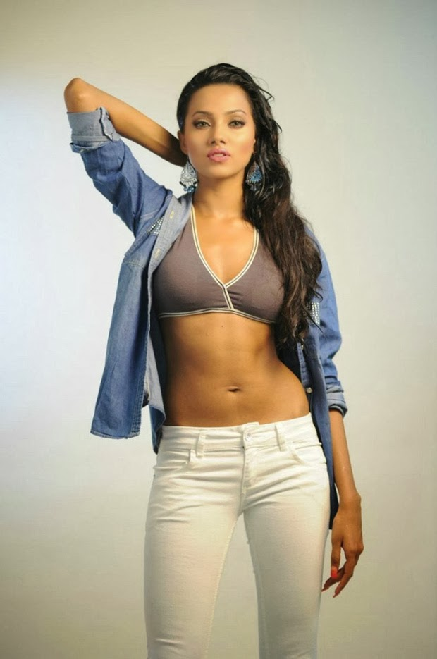 Tamilcinestuff   Anjali Gupta Hot Navel And Thigh Show -3585
