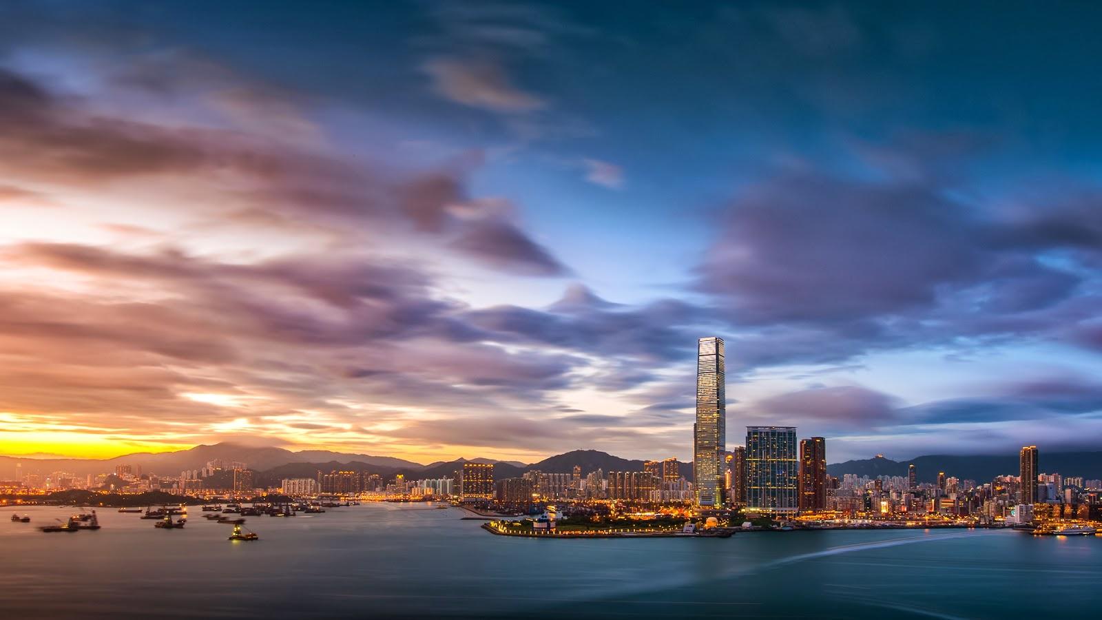 169 Beautiful Places On Earth Hong Kong Sunset Wallpaper