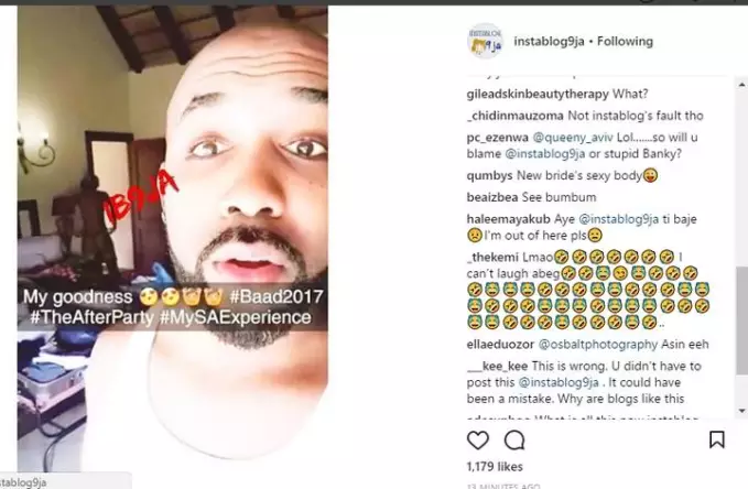 ENTERTAINMENT: OMG!! Inconceivable, Banky W Exposes Adesua Etomi's Nude Photo On Social Media