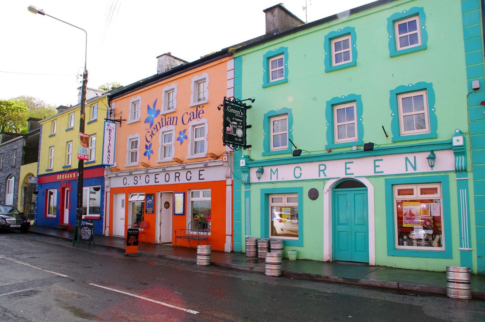 Colourful shopfronts in Kinvarra Ireland
