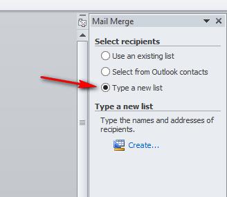 Step 5 Dalam Membuat Mail Merge