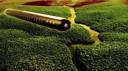 OVNI en forma de cigarro es detectado en lo profundo de la selva amazónica