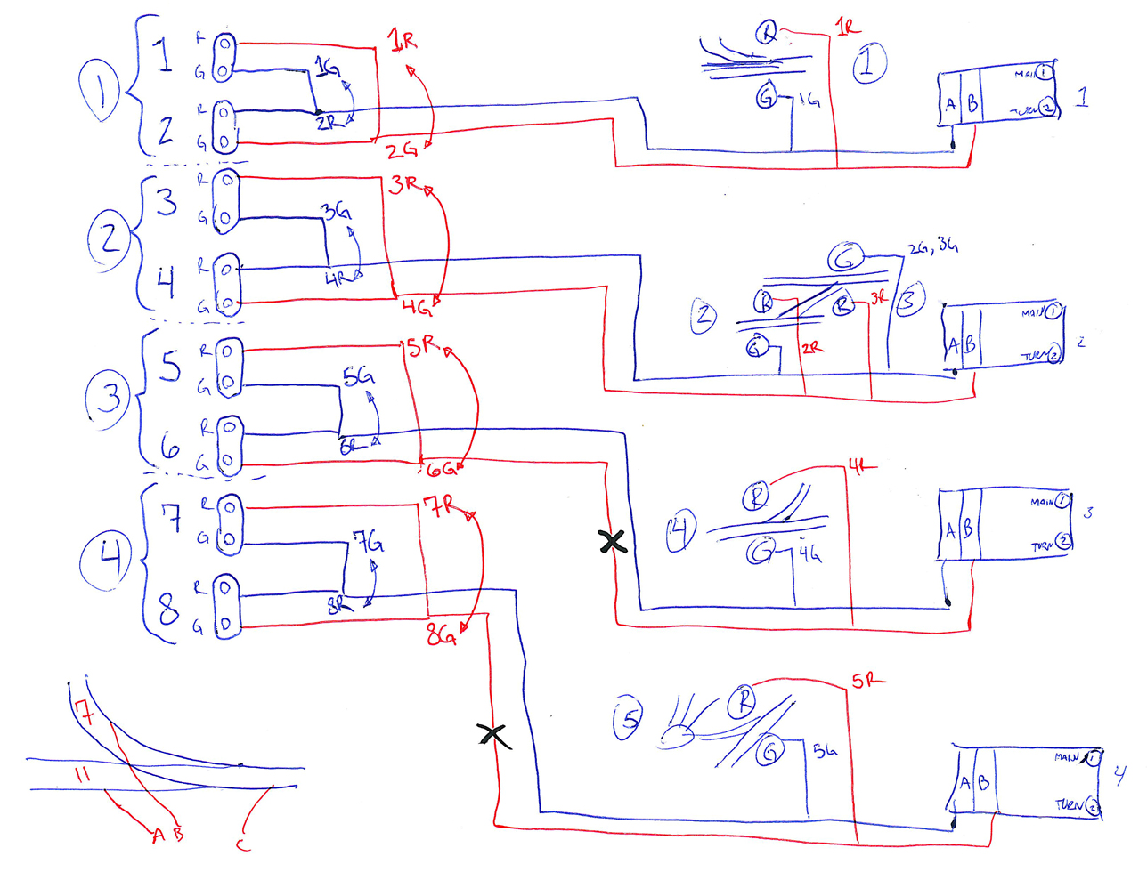 model railway signal wiring diagram 2006 honda civic lx ho scale roundhouse get free image about