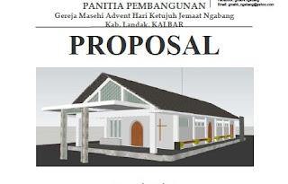 Contoh Proposal Permohonan Bantuan Dana Pembangunan Gereja