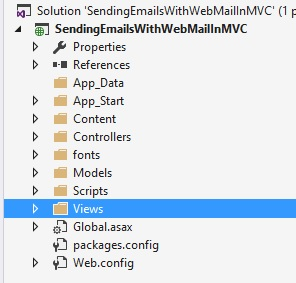 Sending Emails From Razor View In ASP NET MVC
