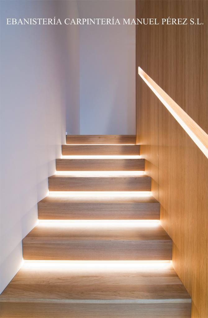 Ebanisteria carpinteria manuel perez zaragoza for Casas con escaleras de madera