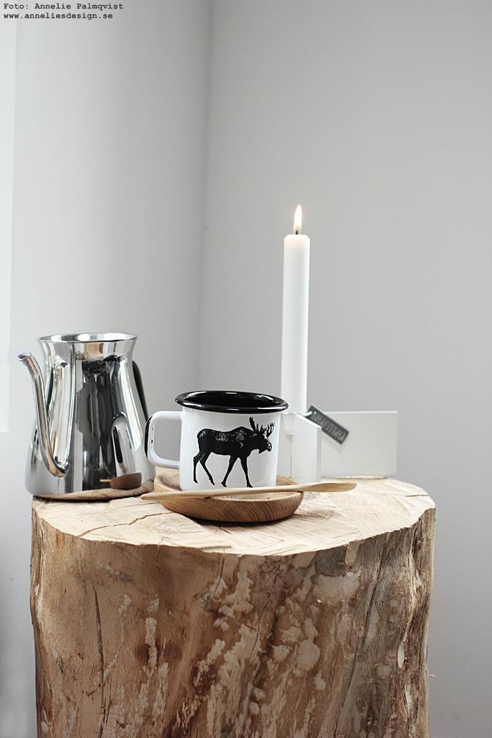 annelies design, slow coffee kettle, kaffe, kittel, mugg, älg, älgar, vilt, jägare, tips, presenttips, ljusstake, kryss,
