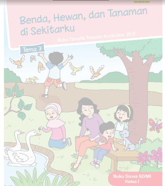 Buku Siswa SD Kelas 1 Kurikulum 2013 Revisi 2016 Tema 7