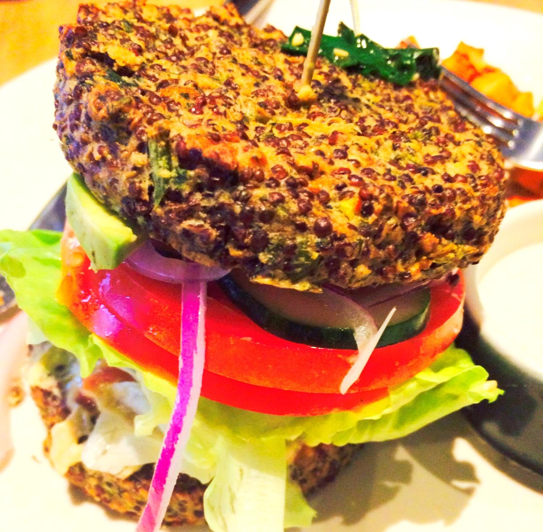 True Food Kitchen Inside Out Quinoa Burger Calories