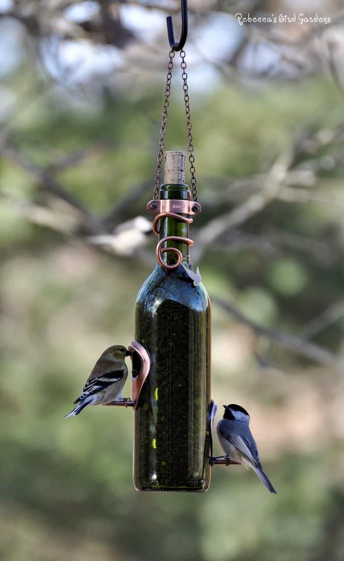 the garden roof coop diy wine bottle bird feeders. Black Bedroom Furniture Sets. Home Design Ideas