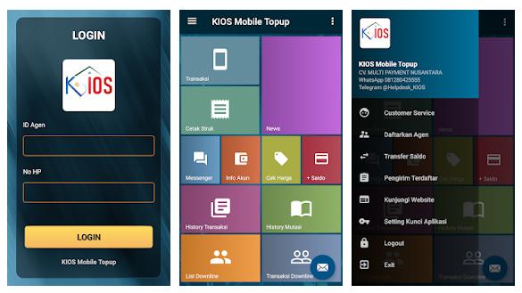 Aplikasi android Kios Mobile Topup