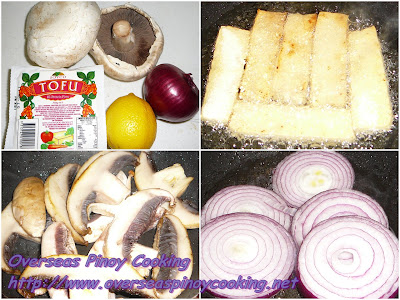 Mushroom and Tofu Pinoys Bistek Style - Ingredients