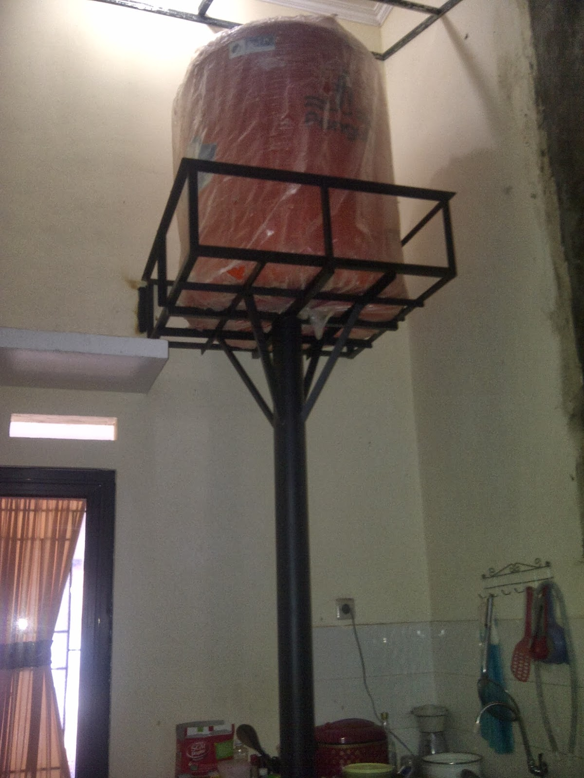 Menara AirToren Pemsangan Di Anggrek Kota Kembang Depok
