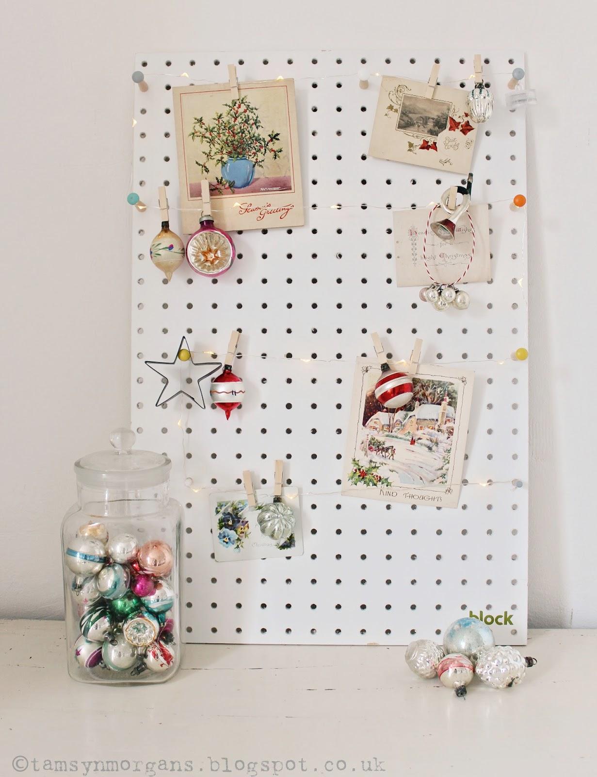 Vintage Christmas Peg Board