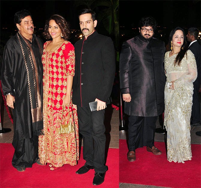 Shatrughan Sinha, Sonakshi, Luv. Smita Thackeray son Rahul, Pics from Arpita-Ayush's Wedding reception