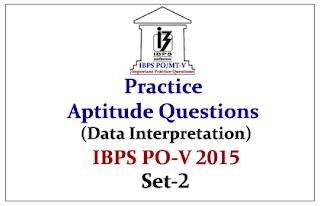 IBPS PO Mains 2015- Practice Aptitude Questions (Data Interpretation) With Solutions