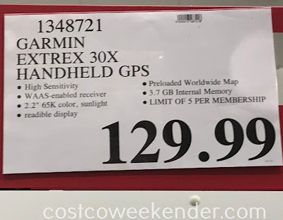 Deal for the Garmin eTrex 30x Handheld GPS at Costco