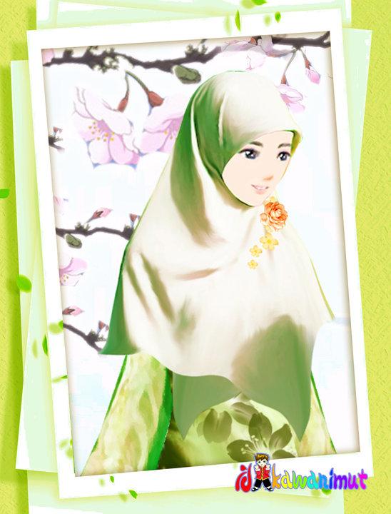 Hijab Cartoon Lucu - Mom Hijab