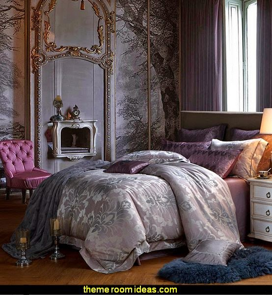Gothic chic Gothic boudoir themed Bedroom
